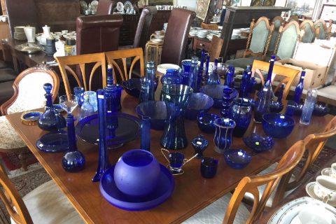 Modré sklo – různé druhy