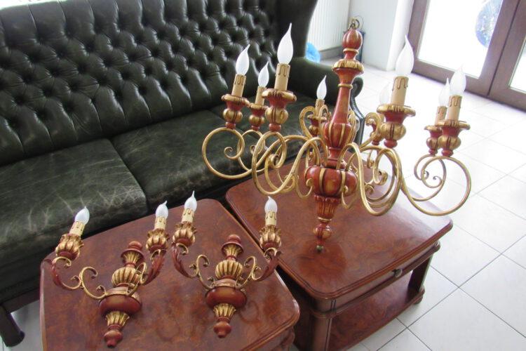 LUSTR + 2 LAMPY č.9235