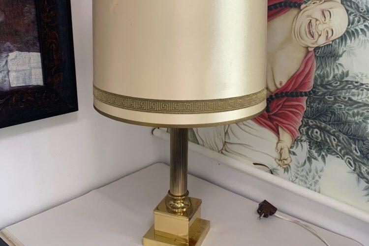 Lampa zlatý detail