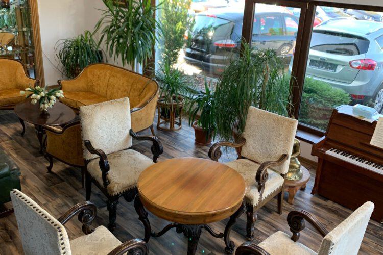Sestava – křeslo 4 ks + stolek č.9477